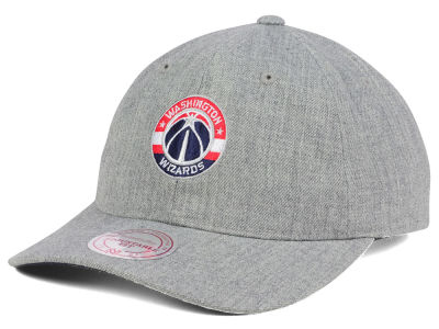 Washington Wizards Mitchell and Ness NBA Heather Grey Dad Hat