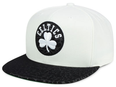 Boston Celtics Mitchell and Ness NBA White Reflect Snapback Cap