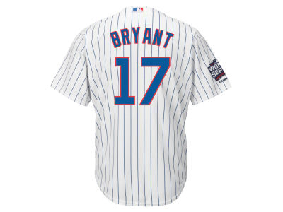 Chicago Cubs Kris Bryant Majestic MLB 2016 Youth World Series Patch Champ Player Cool Base Jersey