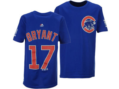 Chicago Cubs Kris Bryant Majestic MLB Youth 2016 World Series Champ Name & Number T-Shirt