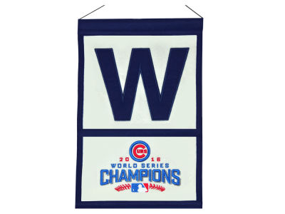 "Chicago Cubs 12x18 Wool Pennant ""W"""