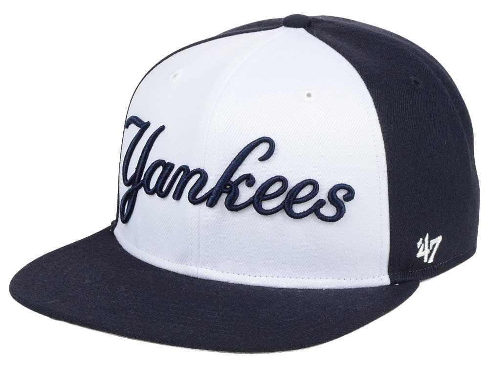 New York Yankees  47 MLB  47 Script Side Snapback Cap  0f8d442e9751