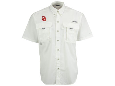 Oklahoma Sooners NCAA Men's Bahama Short Sleeve Button Up Shirt