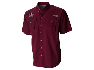 Florida State Seminoles NCAA Men's Bahama Short Sleeve Button Up Shirt