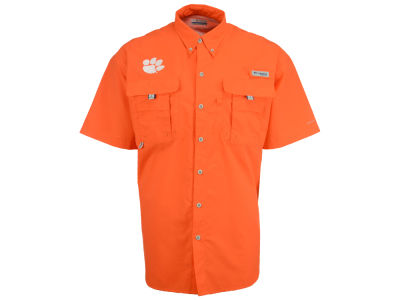 Clemson Tigers Columbia NCAA Men's Bahama Short Sleeve Button Up Shirt