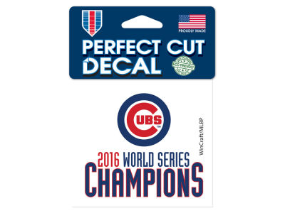 Chicago Cubs 4x4 Die Cut Decal