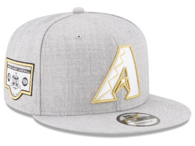 Arizona Diamondbacks New Era MLB Heather Metallic Patch 9FIFTY Snapback Cap