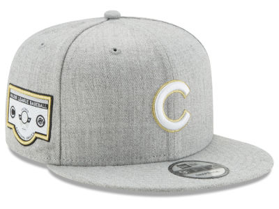Chicago Cubs New Era MLB Heather Metallic Patch 9FIFTY Snapback Cap