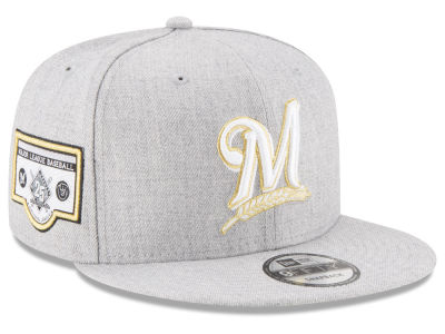 Milwaukee Brewers New Era MLB Heather Metallic Patch 9FIFTY Snapback Cap