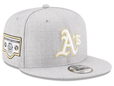 Oakland Athletics New Era MLB Heather Metallic Patch 9FIFTY Snapback Cap