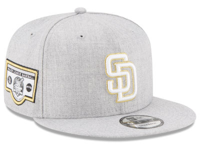 San Diego Padres New Era MLB Heather Metallic Patch 9FIFTY Snapback Cap