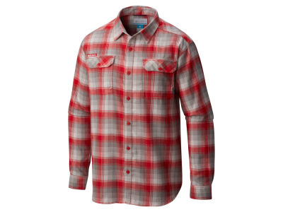 Nebraska Cornhuskers Columbia NCAA Men's Flare Gun Long Sleeve Flannel Button Up Shirt