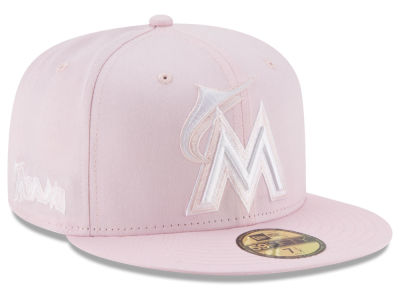 Miami Marlins New Era MLB C-Dub Patch 59FIFTY Cap