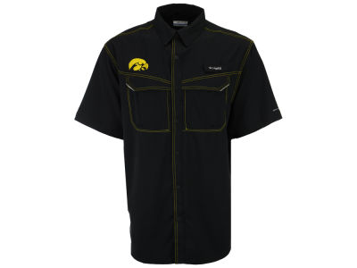 Iowa Hawkeyes NCAA Men's Low Drag Off Shore Button Up Shirt
