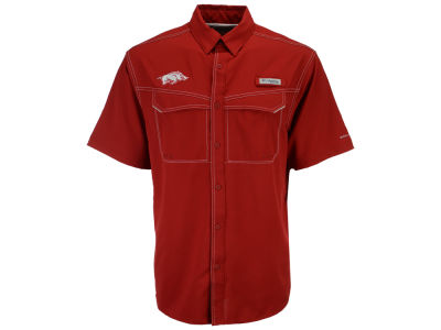 Arkansas Razorbacks NCAA Men's Low Drag Off Shore Button Up Shirt