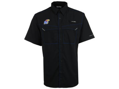 Kansas Jayhawks Columbia NCAA Men's Low Drag Off Shore Button Up Shirt