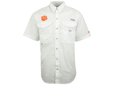 Clemson Tigers Columbia NCAA Mens Bonehead Short Sleeve Shirt
