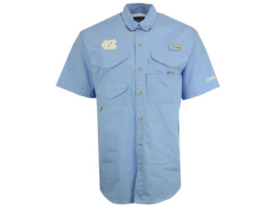 North Carolina Tar Heels Columbia NCAA Mens Bonehead Short Sleeve Shirt