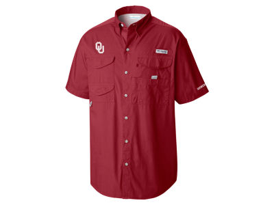 Oklahoma Sooners Columbia NCAA Mens Bonehead Short Sleeve Shirt