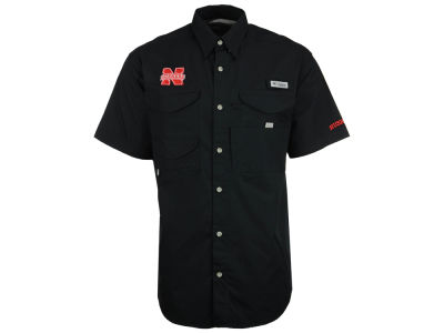 Nebraska Cornhuskers Columbia NCAA Mens Bonehead Short Sleeve Shirt
