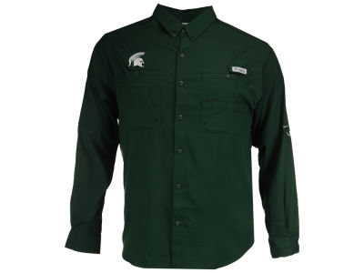 Michigan State Spartans Columbia NCAA Men's Tamiami Long Sleeve Shirt