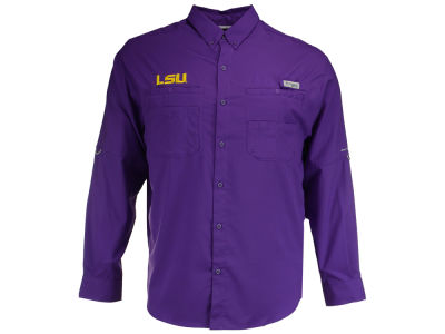 LSU Tigers Columbia NCAA Men's Tamiami Long Sleeve Shirt