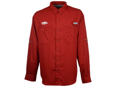 Arkansas Razorbacks Columbia NCAA Men's Tamiami Long Sleeve Shirt