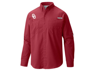 Oklahoma Sooners Columbia NCAA Men's Tamiami Long Sleeve Shirt