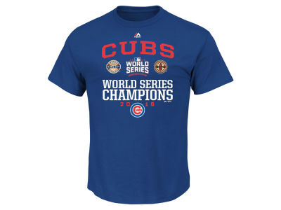 Chicago Cubs MLB 2016 Men's World Series Champ Headline 3X T-Shirt