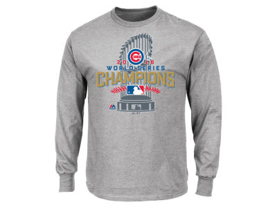 Chicago Cubs MLB 2016 Men's World Series Champ Locker Room Long Sleeve 3X T-Shirt