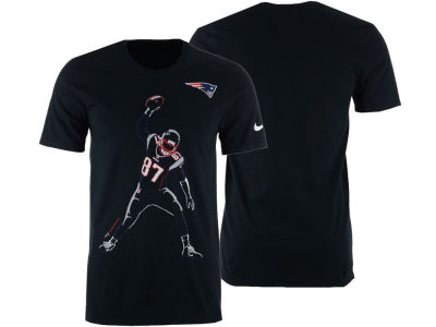 New England Patriots Rob Gronkowski Nike NFL Men's Player Silhouette Pack T-Shirt