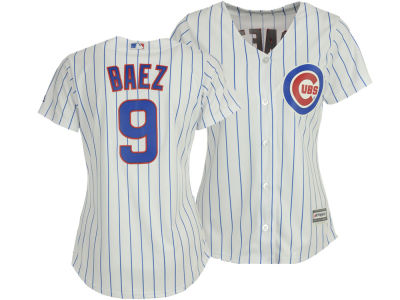 Chicago Cubs Javier Baez Majestic MLB Women's Cool Base Player Replica Jersey