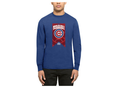 Chicago Cubs MLB Men's 2016 World Series Banner Club Long Sleeve T-Shirt