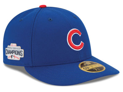 Chicago Cubs Low Profile New Era MLB 2016 World Series Champ Patch Authentic Collection 59FIFTY Cap