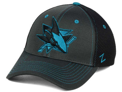 San Jose Sharks Zephyr NHL Blacklight Flex Cap
