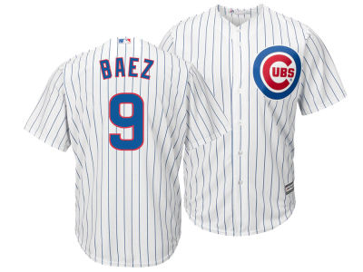 Chicago Cubs Javier Baez Majestic MLB Youth Player Replica Cool Base Jersey