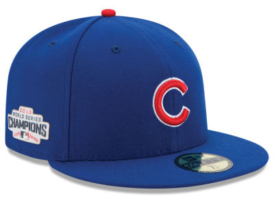 Chicago Cubs New Era MLB Youth 2016 World Series Champ Patch Authentic Collection 59FIFTY Cap