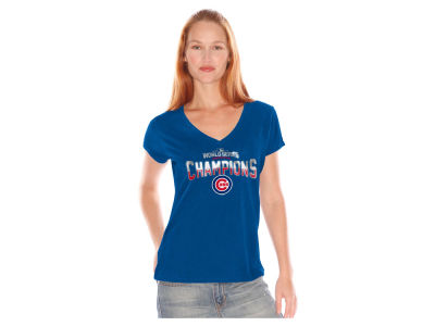Chicago Cubs MLB Women's 2016 World Series Champ Foil T-Shirt