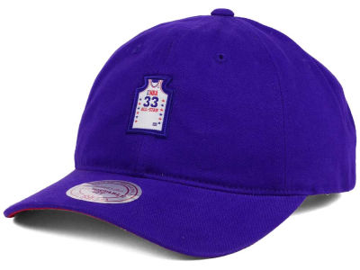 NBA All Star Larry Bird Mitchell & Ness NBA Deez Jersey Dad Hats