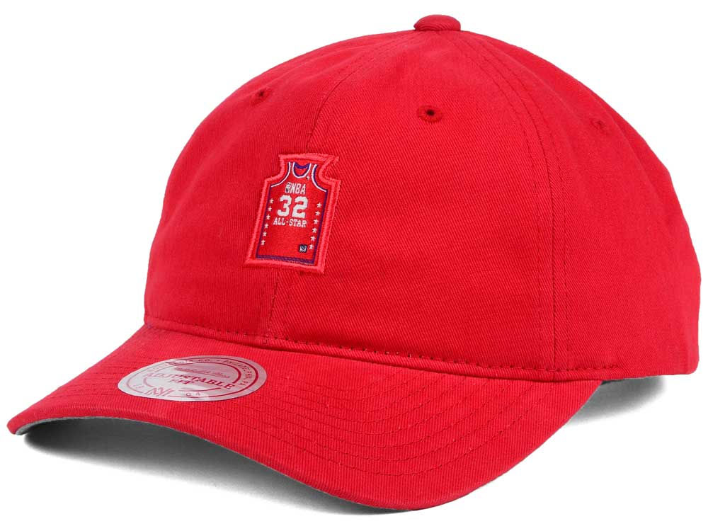 NBA All Star Magic Johnson Mitchell   Ness NBA Deez Jersey Dad Hats ... 6e10af61e20f