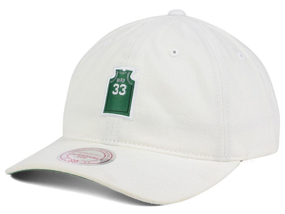 Boston Celtics Larry Bird Mitchell   Ness NBA Deez Jersey Dad Hats ... 1d9ac4d849e2