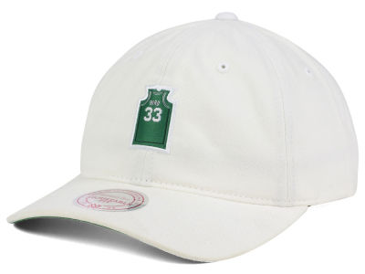 Boston Celtics Larry Bird Mitchell and Ness NBA Deez Jersey Dad Hats