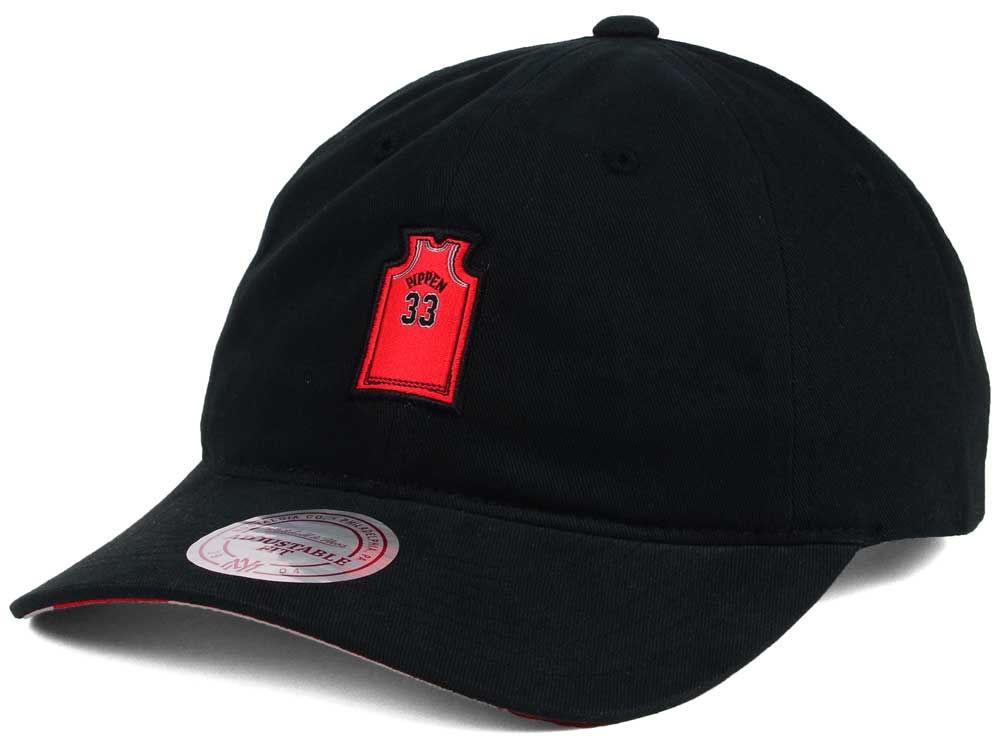 Chicago Bulls Scottie Pippen Mitchell   Ness NBA Deez Jersey Dad Hats  e481129dabe8