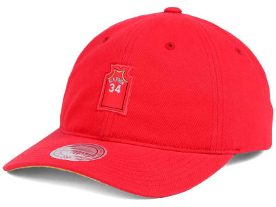 Houston Rockets Hakeem Olajuwon Mitchell and Ness Deez Jersey Dad Hats