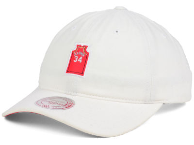 Houston Rockets Hakeem Olajuwon Mitchell & Ness NBA Deez Jersey Dad Hats