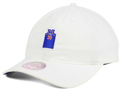 New York Knicks Bernard King Mitchell & Ness NBA Deez Jersey Dad Hats
