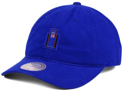 New York Knicks Patrick Ewing Mitchell & Ness NBA Deez Jersey Dad Hats
