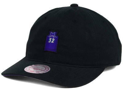 Utah Jazz Karl Malone Mitchell and Ness Deez Jersey Dad Hats
