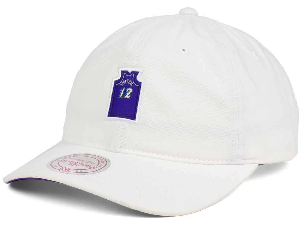 Utah Jazz John Stockton Mitchell   Ness NBA Deez Jersey Dad Hats ... 26fea0f8c