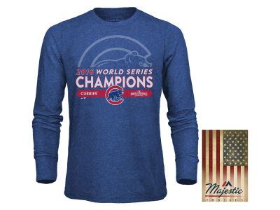 Chicago Cubs MLB Men's 2016 World Series Champs Triblend Long Sleeve T-Shirt